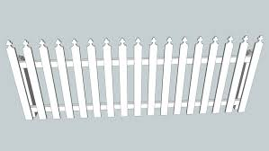 8ft By 3 Ft Pickett Fence With Posts 3d Warehouse