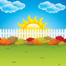 Cartoon Garden Fence Background Vector Graphics My Free Photoshop World Hd Background