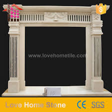 black and white marble fireplace and
