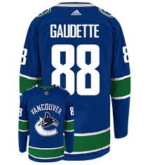 Adam Gaudette Vancouver Canucks Adidas Authentic Home NHL Jersey