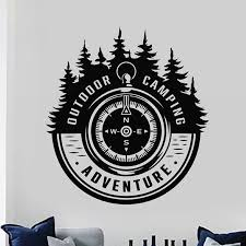 Outdoor Sticker Compass Decal Beauty Posters Vinyl Wall Decals Decor Mural Kids Room Decoration Car Decal Wall Stickers Aliexpress