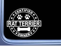 Certified Rat Terrier L287 Dog Sticker 6 Window Decal Etsy