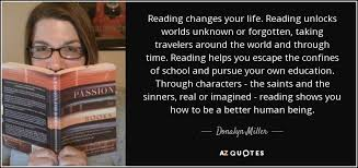donalyn miller quote reading changes your life reading unlocks