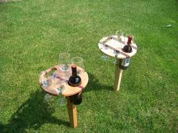 folding picnic wine bottle holder by