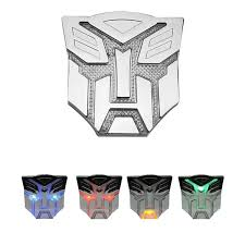 Skyland Car Decoration Transformers Sticker Logo Solar Energy Metal 3d Autobot Decepticons Emblem Badge Decal Truck Auto Styling Warning Lamp Wish