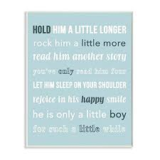 The Kids Room By Stupell Hold Him A Little Longer Teal Wall Plaqueby Daphne Poselli Brickseek