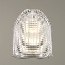clear prismatic glass dome shade 1 5 8