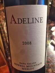 Spirit of Wine: Review: ***+ $$ Adeline Howell Mountain Merlot, Napa  Valley, California, 2008