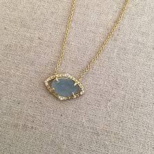 stella dot charlotte pendant pale blue