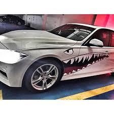 1 Pair Big Shark Mouth Decor Decals Car Door Body Modified Sticker Wish