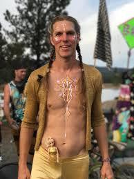 A photo of Aaron Joel Mitchell at Oregon Eclipse Gathering, a week before  the Burn : BurningMan