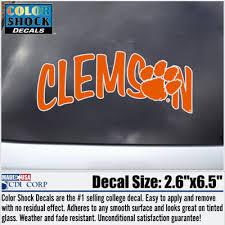 Clemson Tigers Color Shock Mascot Decal Barnes Noble At Clemson University