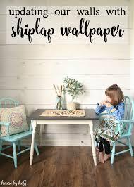 walls with shiplap wallpaper