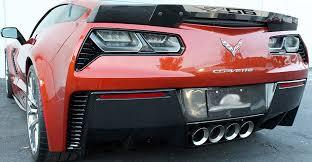 C7 Corvette Z06 2015 Clear Center Wicker Bill Spoiler Decal Design Selection Corvette Mods