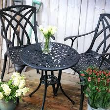 garden bistro set bq 3 piece grey and