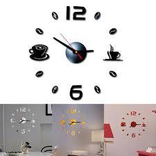 wall clocks us diy 3d mirror surface