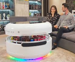 coosno smart coffee table fridge