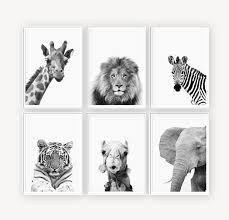 Conjunto De Impresion De Vivero Impresiones De Animales Etsy