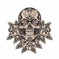 12 9cm 12 9cm Personality Sugar Skull Roses Sketch Car Sticker Pvc Decal 6 0713 Wish