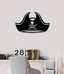 Vinyl Wall Decal Pirate Hat Kids Boys Room Idea Decoration Art Sticker Wallstickers4you
