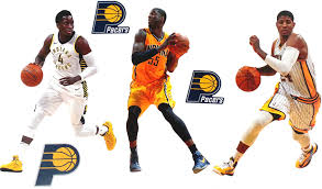 3 Pacers Logo Official Nba Vinyl Wall Graphics 3 Players Fathead Indiana Pacers Mini Graphics Each Player 7 Inches Tall Wall Decals