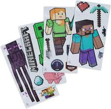 Amazon Com Paladone Minecraft Wall Decals Reusable Vinyl Sticker Clings Toys Games