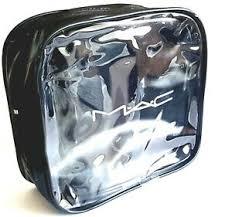 mac cosmetics bag black pvc finish uk