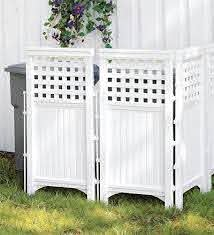 Neat Way To Hide Unsightly Items Like Trash Cans Utility Boxes Etc In The Yard Outdoor Privacy Outdoor Screens Hide Trash Cans