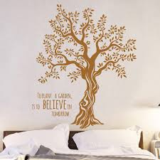 Wall Decal Wall Sticker Tree Olive Tree With Saying M1567 Wall Decals Bumper Sticker Murals Bags Cups Backpacks And Many More At Www Deinewandkunst Com