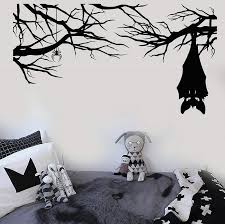 Vinyl Wall Decal Cartoon Gothic Spider Bat On Branch Halloween Stickers Home Living Room Window Decal Home Sticker Home Wall Art Stickers From Trsunrise 2 99 Dhgate Com