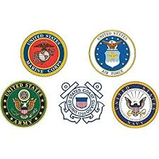 Amazon Com Us Navy Branches Of Service Combo Pack Military Veteran Served Window Bumper Sticker Vinyl Decal 3 8 Automotive
