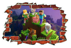 Minecraft Wall Stickers Australia Minecraft Wall Decal With Name