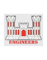Army Corps Of Engineers Emblem Decal 4 5 Wide X 3 5 High Midtown Military