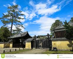 Japanese Style House Kiosk Roof Fence Gate With Dark Green Tr Stock Photo Image Of Courtyard Family 88837204