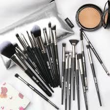 jacky lauren makeup brush set with