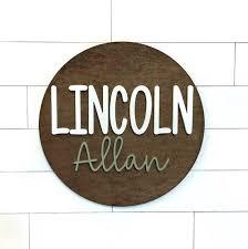 Wooden Nursery Name Sign Boston Creative Company