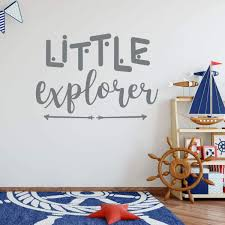 Amazon Com Children S Room Wall Decal Little Explorer With Arrow Design Boys Or Girl S Bedroom Decoration Playroom Or Nursery Room Decor Handmade