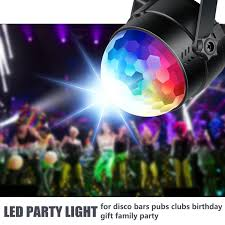 Neewer Disco Ball Disco Lights Party Lights Sound Activated Storbe Light With Remote Control Dj Lighting Led 3w Rgb Light Bal Dance Lightshow For Home Room Parties Kids Birthday Wedding Show Club Pub
