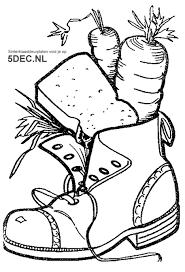 Sinterklaas Knutselen Sinterklaas Kleurplaten Schoen Zetten