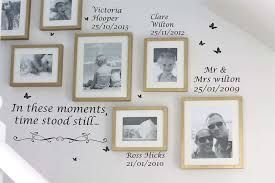 Personalised In These Moments Time Stood Still Wall Art Vinyl Decal Sticker