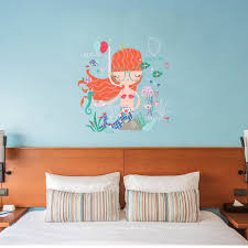 Happy Little Mermaid Interior Decor Children Wall Sticker Kids Decal B Kismet Decals