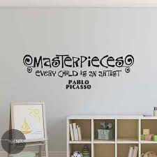 Masterpieces Every Child Is An Artist Pablo Picasso Vinyl Wall Decal Sticker 12 99 Picclick