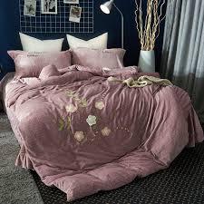 luxury rabbit velvet flannel bedding
