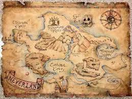 Kitchen Mural For Breakfast Bar Neverland Map Neverland Pirate Maps