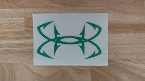 Under Armor Fishing Vinyl Decal 22 Colors 9 Sizes To Choose Etsy