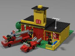 1978 Lego Set 374-1 Fire Station from BrickLink Studio