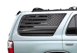 Amazon Com Usa American Flag Decals For Toyota 4runner In Matte Black For Side Windows 3rd Generation 4runner Fr13a Handmade