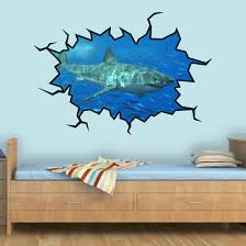 East Urban Home Shark Hole Wall Decal Reviews Wayfair
