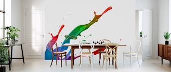 Colorful Paint Splash Affordable Wall Mural Photowall
