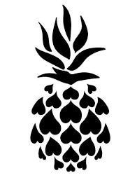 Pineapple Decal Multiple Sizes Colors Available Na Koa Brand